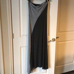 Strapless Maxi Dress w/ Cutout